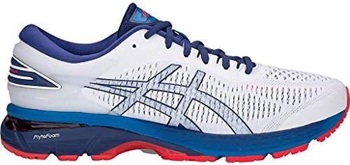 ASICS Men's Gel-Kayano 25 Running Shoes, 7M, White/Blue Print