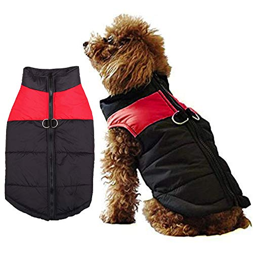 WELLXUNK® Hundemantel für Hunde, Hundejacken Wasserdicht Warme Jacke für Kleine Mittelgroße Große Hunde Winterjacke Warm Gepolstert Welpen Weste Haustier Kleidung für Kaltes Wetter (S)