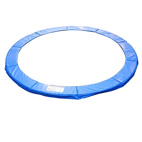 HOMCOM 13ft Trampoline Thick Surround Safety Foam Pad Padding Pads Family Outdoor Garden Trampoline - Blue