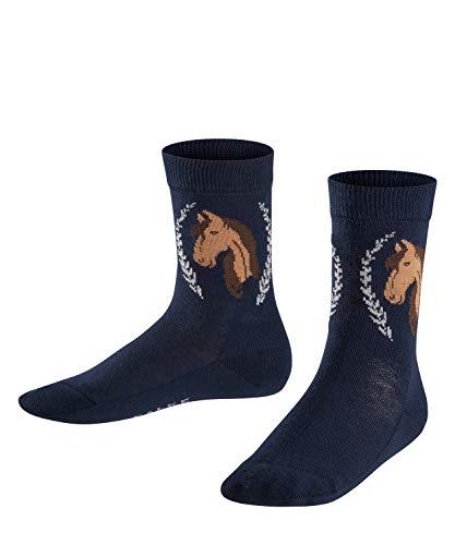 FALKE Kinder Socken Horse - Baumwollmischung, 1 Paar, Blau (Marine 6120), Größe: 31-34