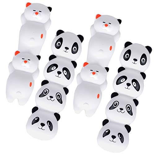 Mega Squishies Panda & Cat Squishy Pencil / Pen Grips Set (4 Pack) Slow Rising Scented Pen Toppers | Pencil Holders | Kids Party Favors & Classroom Prizes | Stress Toys | Birthday Gift