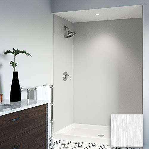 Mermaid Bath and Shower Walls Three Panel Shower Wall in 48