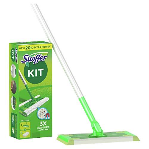 Swiffer Mopa Kit De Inicio Con 1 Mango Y 8 Paños