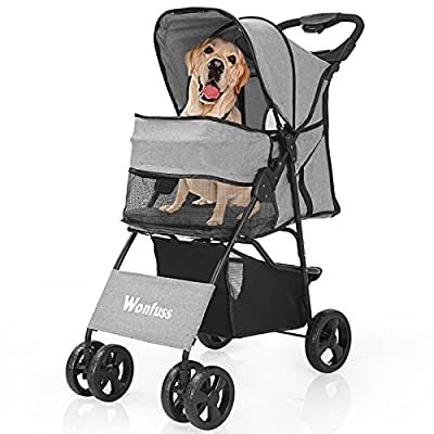 Amazon - 30% Off on Pet Stroller – Cat Dog Strollers Easy to Walk Folding Travel Carrier Cart