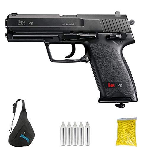 UMAREX HK P8 M24 | Pistola de Airsoft Calibre 6mm (Arma Aire Suave de Bolas de plástico o PVC). Sistema: CO2. 2.25 Julios.