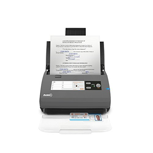 Ambir ImageScan Pro 820ix 20ppm High-Speed ADF Scanner with Nuance...