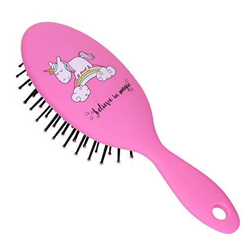 PARSA BEAUTY Brosse à cheveux pour enfants Brosse à coiffer mini Brosse à cheveux Licorne