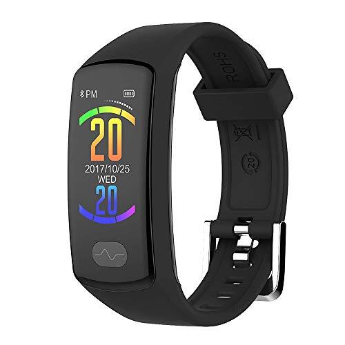 Fitness Tracker, Braccialetto Intelligente Bluetooth con Pressione Sanguigna ECG + PPG,Frequenza Cardiaca Zeerkeer Tracker da Polso con Contapassi Monitor del Sonno per Uomo Donna