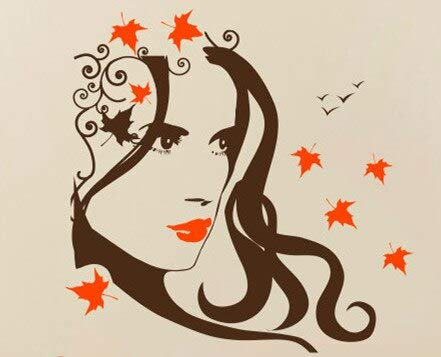 Friseur Frisur Barber Wandmalerei Salon Schönheit Vinyl Wandaufkleber Mädchen Gesicht schöne Lippen Kunst Wandtattoo Dekoration 84x84cm