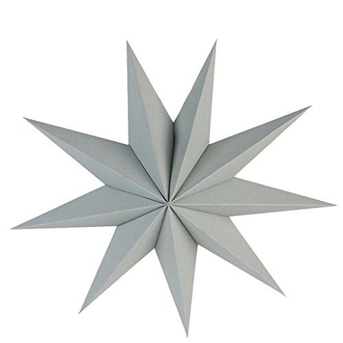 B Blesiya 3D Faltsterne aus Papier für Party Taufe und Halloween - Grau, 27 x 23 x 2 cm