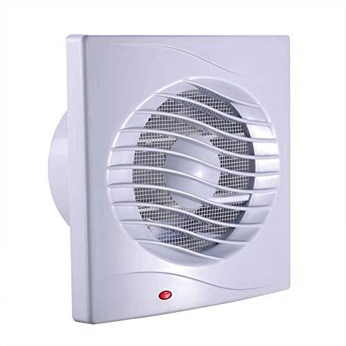 Wall-tekening afzuigventilator, window-kabeltype afzuigventilator, wand- uitlaatventilator met laadklep, gebruikt in badkamers, sterke ventilatie in kamer 130m³ / h (12W)