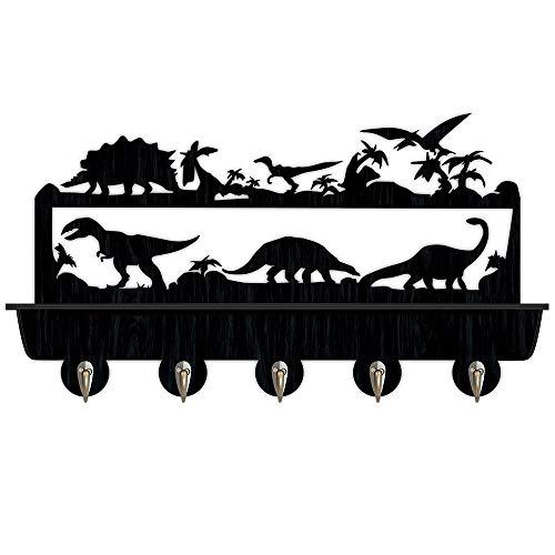 Percheros Pared Perchero Entrada Recibidor Dinosaurios clave de regalo de madera sombrero de ropa de la suspensión Ganchos / perchero / únicos de la pared hogar decorativos adhesivos de pared de la co