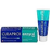 4x Curaprox enzycal Zahncreme 1450ppm Fluorid 75ml Tube