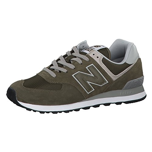 New Balance Herren 574v2-Core Sneaker, Grün (Olive Night), 43 EU