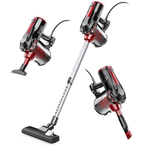 Vacuum Cleaner,Sngg 17KPA Corded Stick Vacuum Powerful Suction Handheld Light Cleaner for Hardwood Floors -H7 Black