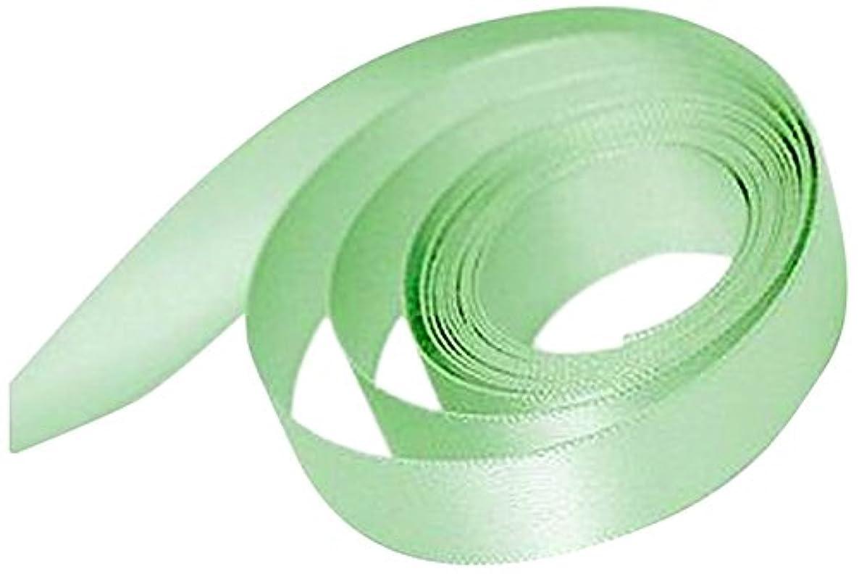 Papillon Ribbon and Bow Single Face Satin Woven Ribbon, Pastel Green