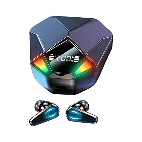 Leo2020 Gaming Wireless Earbuds/Earphones, Bluetooth 5.1 Non-inductive Delay Chip, Digital Power Display, CVC8.0 Digital Noise Reduction Technology, Compatible with Bluetooth-Enabled Devices
