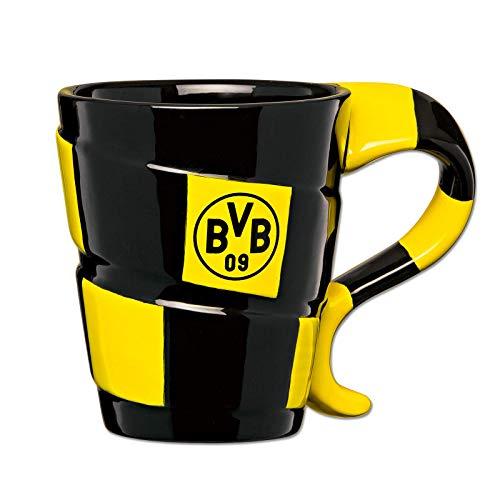 Borussia Dortmund, BVB-Tasse mit Schal-Design, 00 SCHWARZ/GELB, 0