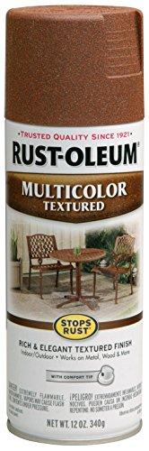 Rust-Oleum 239122, 12 oz, Rustic Umber Stops Rust Multi-Color Textured Spray Paint