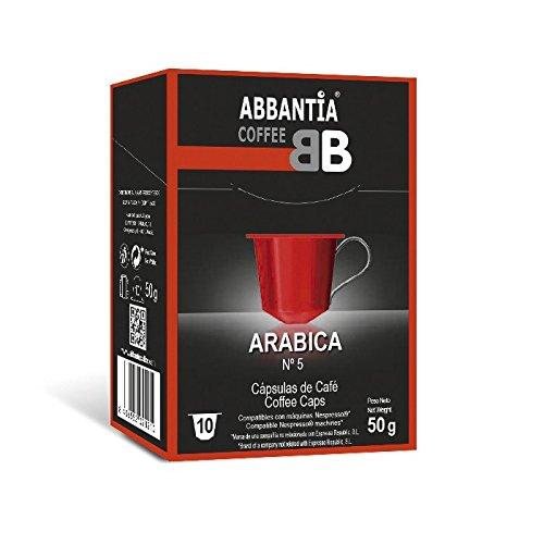 120 Cápsulas de Café 100% Arábica Abbantia compatibles con Nespresso