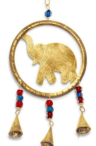 Purity Elefant Windspiel mit Perlen und Glöckchen aus recyceltem Metall