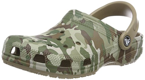 Crocs Unisex-Erwachsene Classic Graphic II Clogs, Grün (Dark Camo Green/Khaki), 43/44 EU
