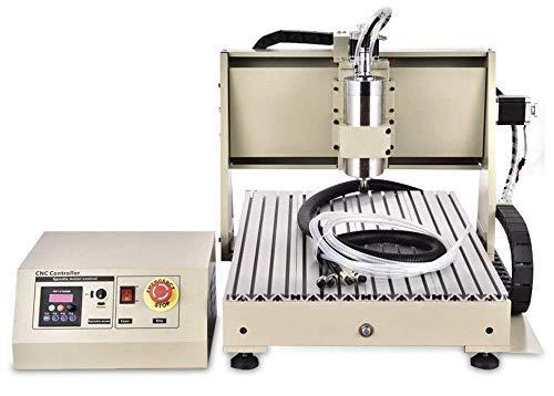 RANZIX 4 Achse 6040 CNC Router Engraver Graviermaschine 1.5KW VFD Milling Machine Fräsmaschine Spindel Graviergerät (USB Port)