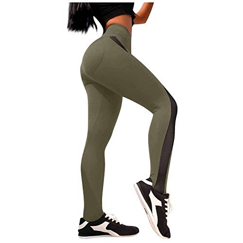 PorLous Leggings Womens Mesh Stitching Yoga Pants Fitness High Stretch Quick-Drying High Waist Hip Tights Girlfriends Unique Fathers Maybe Wear LOL Bands Sleep Intimacy How Clearance Naughty 30