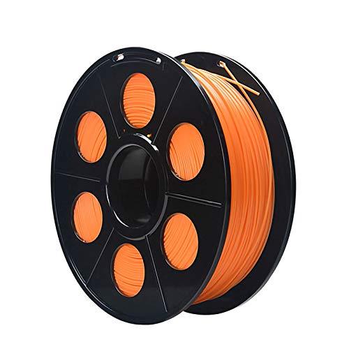ZXC PLA Filament Feder QualitäTs 3D Filament Refills 1,75 mm Genauigkeit ± 0,02 100% Nein Blase 1 kg 2.2lb Kein Geruch Und Leicht Zu SchäLen Filament for Die Meisten 3D-Drucker(Color:Orange)