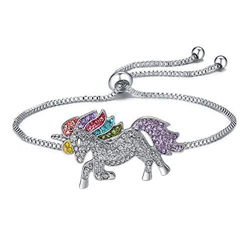 Beuya Ajustable Unicornio Pulseras, Pulsera para Charms y Abalorios para niña y Mujer para Navidad Regalo de Cumpleaños de San Valentín