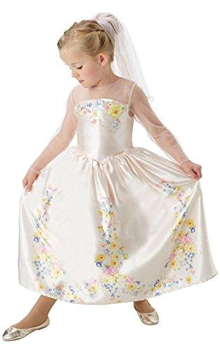 Rubie's Offizielles Disney Cinderella Live Action Cinderella Hochzeitskleid für Kinder, Größe M