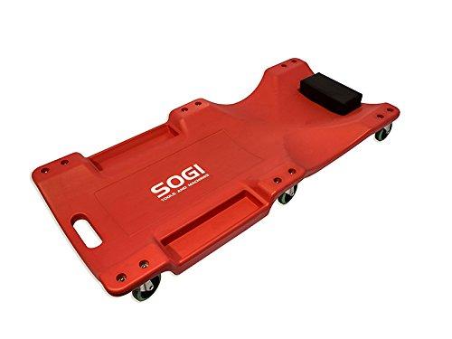 Carrello Lettino sotto Auto XL termoformato ergonomico ruote piroettanti SOGI X4-13