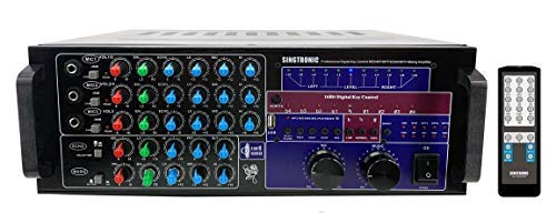 Check Out This SINGTRONIC KA-2000DSP Professional DJ/KJ 2500W Digital Mixing Amplifier with HDMI, Bl...