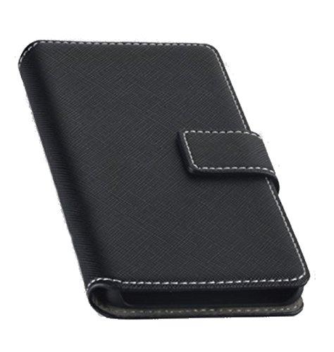 Titan Mobilfunk Zubehör Book Style Handy Tasche - NAS. - kompatibel mit LG K5 - Cover Hülle Schutz Hülle Etui Schutzhülle in der Farbe Schwarz