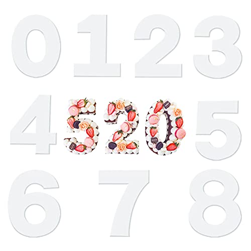 Cyleibe - Moldes para tartas números de 0 a 8 moldes para tartas con número grande para decoración de bodas