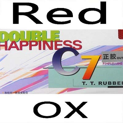 Find Discount DHS C7 (C 7, C-7) Pips-Out Table Tennis (Ping Pong) Rubber Without Sponge (Topsheet, OX) (Red)