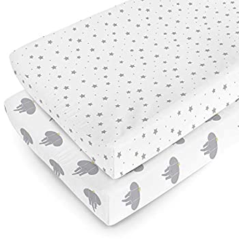 Changing Pad Cover   100% Organic Jersey Cotton   16X32   2 Pack   Unisex Soft Hypoallergenic   Baby Shower Gift For Boy or Girl