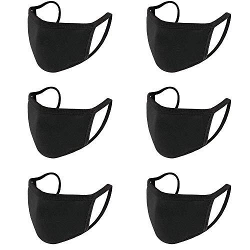 JOKBEN Reutilizable Cara M Dust M, Fashion Protective, Usable en Interiores y Exteriores Unisex Dust Cotton, Lavable(6 PIEZAS)