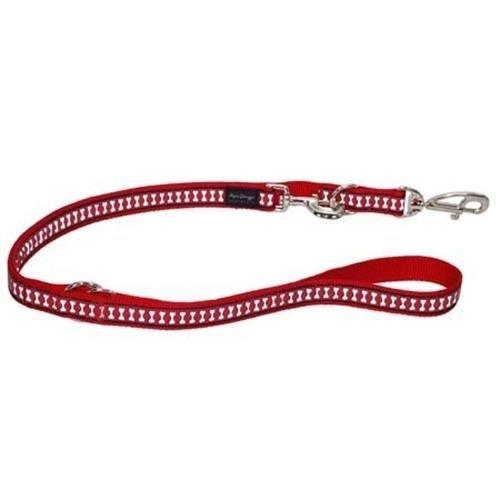 Red Dingo Multi-Purpose Lead, Reflective Red, 12mm/Small