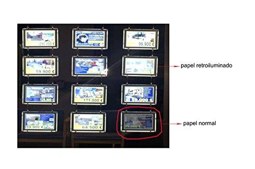 WORLED-Backlight Paper/Papel Retroiluminado/Papel Backlite 125G Formato A3 Paquete 50 hojas para CARPETAS LED/Folder LED/Affiches LED para impresion en LASER o INKJET