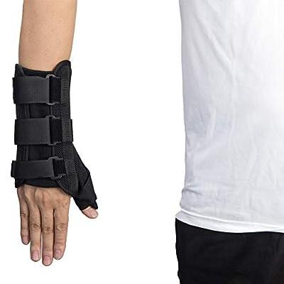 Thumb & Wrist Spica Splint, Thumb Wrist Support Brace Adjustable Wrist Guards Immobilizer Splint for Carpal Tunnel, Arthritis, Tendonitis, Sprain and Strain (Thumb Wrist Brace, Right M)
