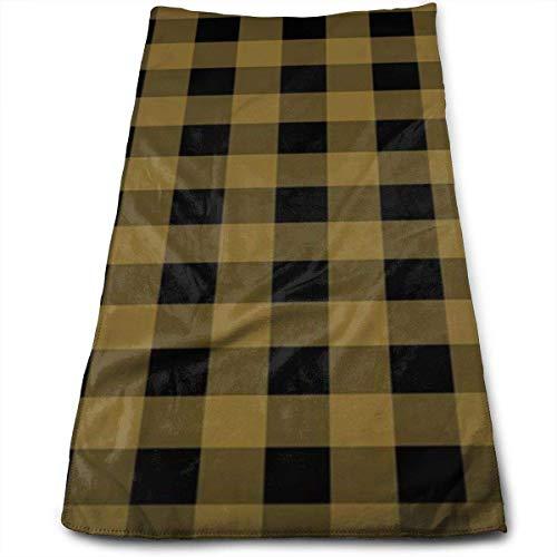 Hgdfhfgd - Toallas de mano de color marrón escocés, color negro, ultra suaves y absorbentes toallas de baño, toallas de ducha, toallas de hotel y gimnasio, 30,5 x 27,5 pulgadas