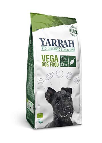 YARRAH Vega Cibo secco vegetariano per tutti i cani adulti I Squisiti bocconcini biologici, 2kg I 100% biologico e senza additivi artificiali