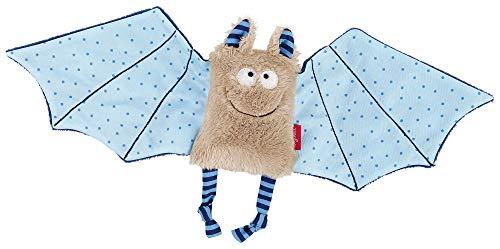 sigikid, Mädchen und Jungen, Schnuffeltuch Fledermaus, Baby bite me, Blau/Grau, 41099