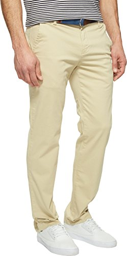 U.S. Polo Assn. Men's Slim Straight 5 Pocket Denim Jean, Khaki Stone, 32Wx32L