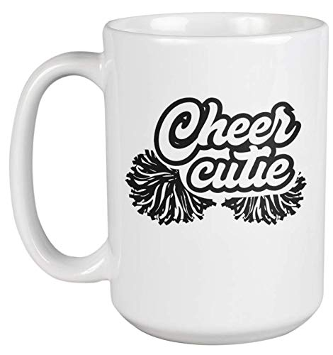Cheer Cute. Loud And Proud Cheerleading Coffee & Tea Gift Mug For Cheerleader Daughter, Sister Or Mom, Female Supporter, Advocator, Best Friend, Sport Enthusiasts And Women Cheerleaders (15oz)