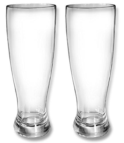 Global Wombat Drinkware Set 2X Weißbiergläser Weizenglas 500ml Polycarbonat Kunststoff bruchsicher