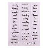 DIY Bullet Journal Calendar Planner Week Month Clear Stamps for...