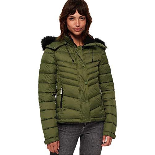 Superdry Fuji Slim 3 in 1 Jacket Blouson, Vert (Four Leaf Clover M6B), L (Taille Fabricant:14) Femme