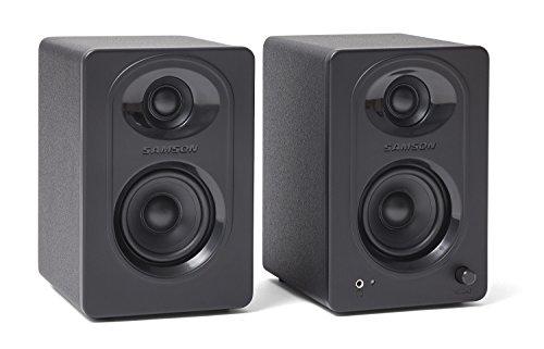 "Samson MediaOne M30 3"" Powered Studio Monitors, Black, 3-Inch"